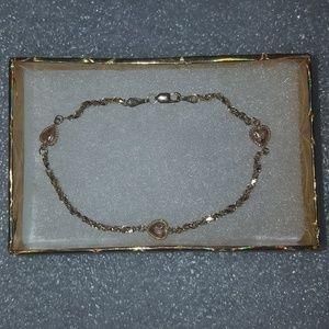 14k heart bracelet